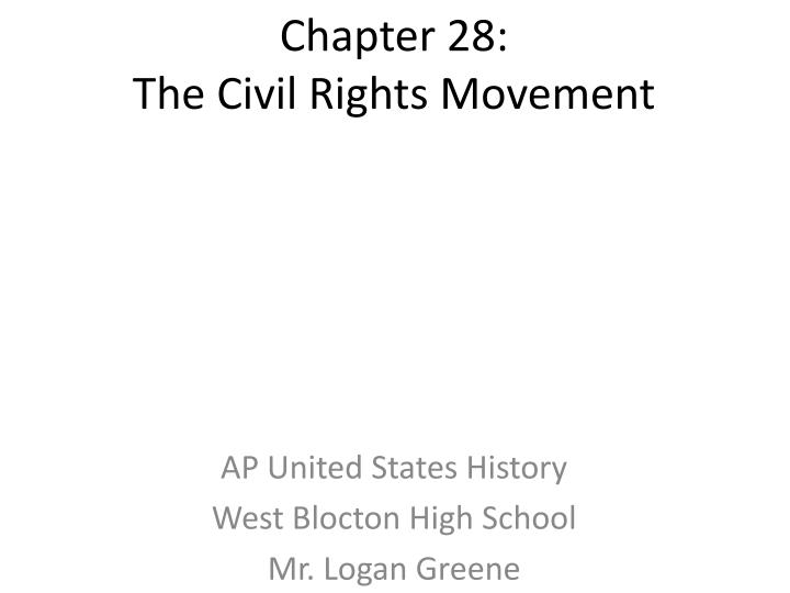 how did the civil rights movement