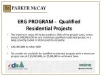 erg program qualified residential projects2
