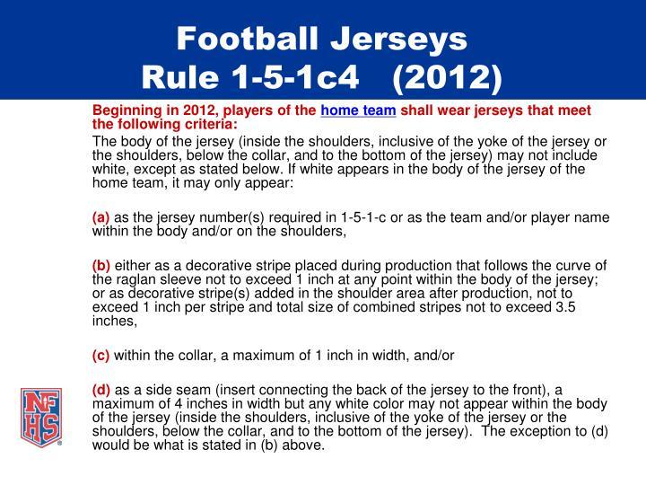 Football jerseys rule 1 5 1c4 20121