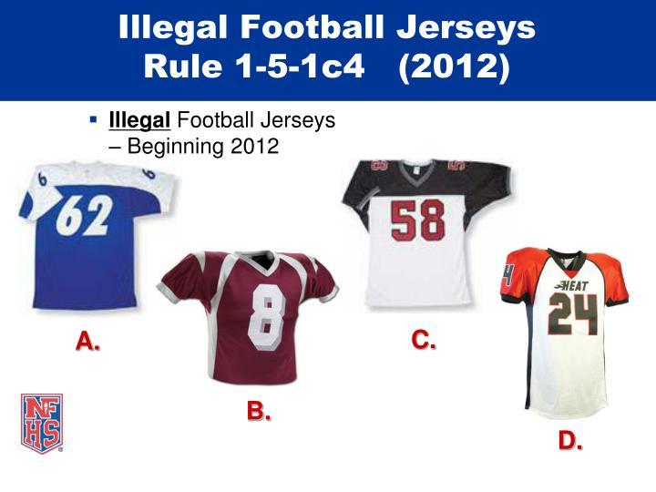 Illegal Football Jerseys