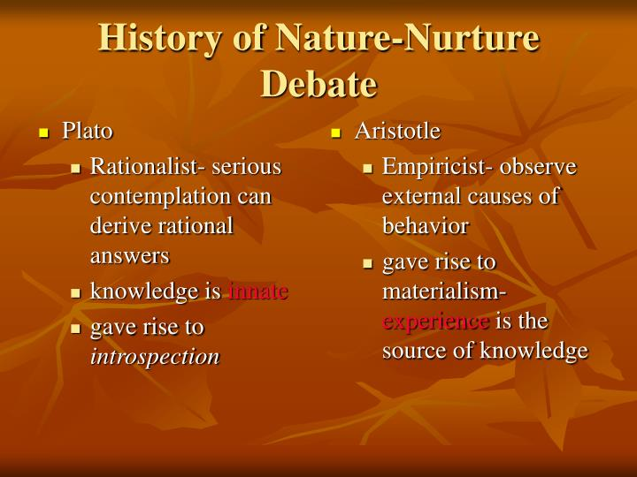 Ppt history of nature nurture debate powerpoint presentation id 5108613 - Nurture images download ...