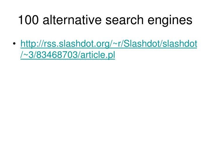 100 alternative search engines