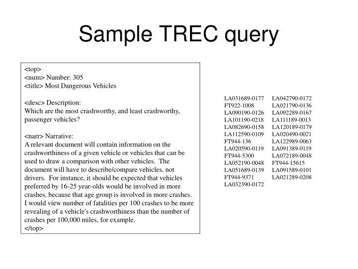 Sample TREC query