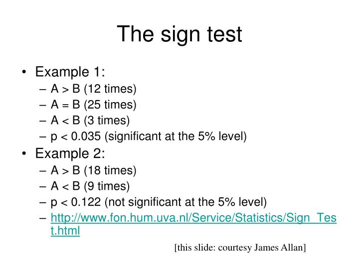 The sign test