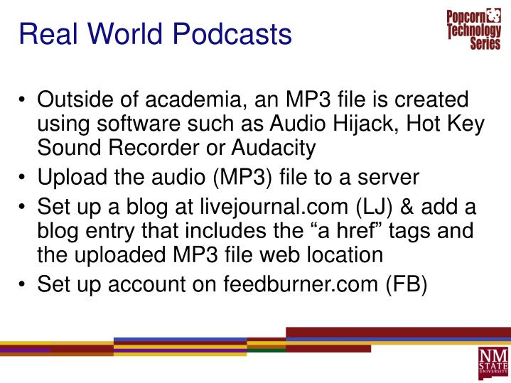 Real World Podcasts