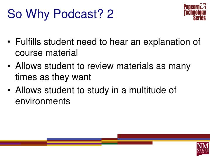 So Why Podcast? 2