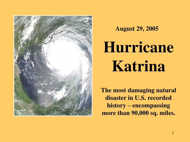 the lessons of hurricane katrina The federal response to hurricane katrina: lessons learned -1- foreword on august 23, 2005, hurricane katrina formed as a tropical storm off the coast of the bahamas.
