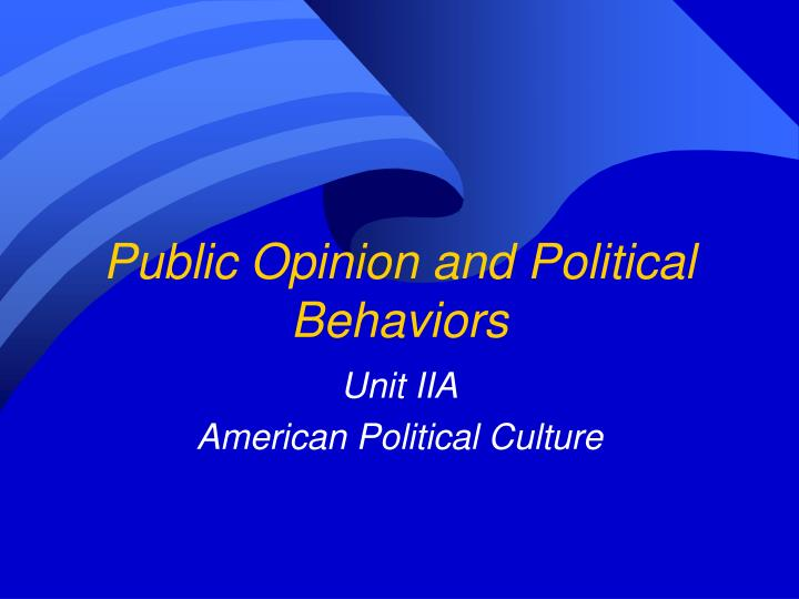 public opinion and political behaviors n.