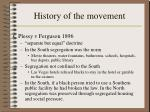 history of the movement