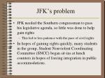 jfk s problem