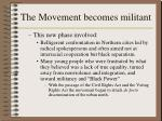 the movement becomes militant1