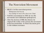 the nonviolent movement