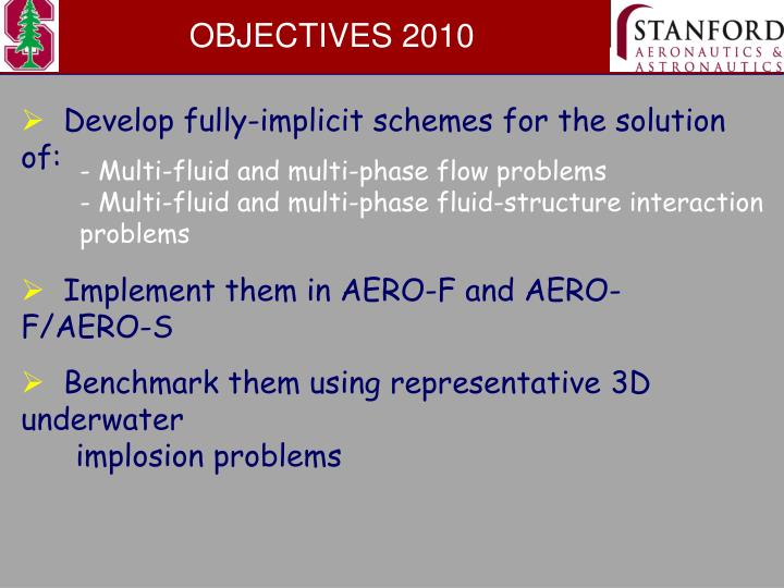 OBJECTIVES 2010