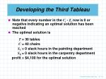 developing the third tableau5