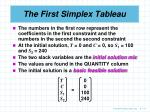 the first simplex tableau2