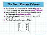 the first simplex tableau3