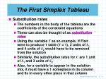 the first simplex tableau4