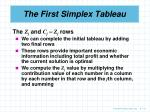 the first simplex tableau6