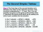 the second simplex tableau6