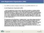 joint registration organization jro
