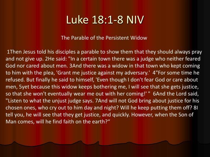 Luke 18 1 8 niv
