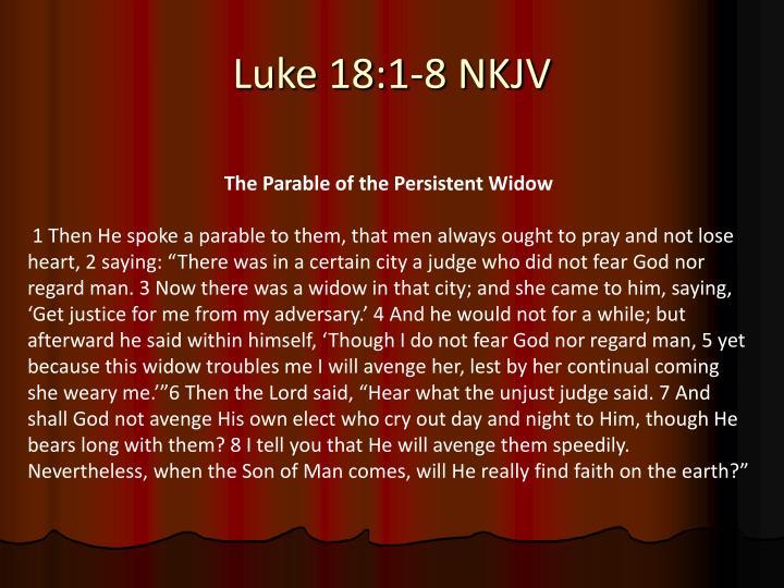 Luke 18 1 8 nkjv