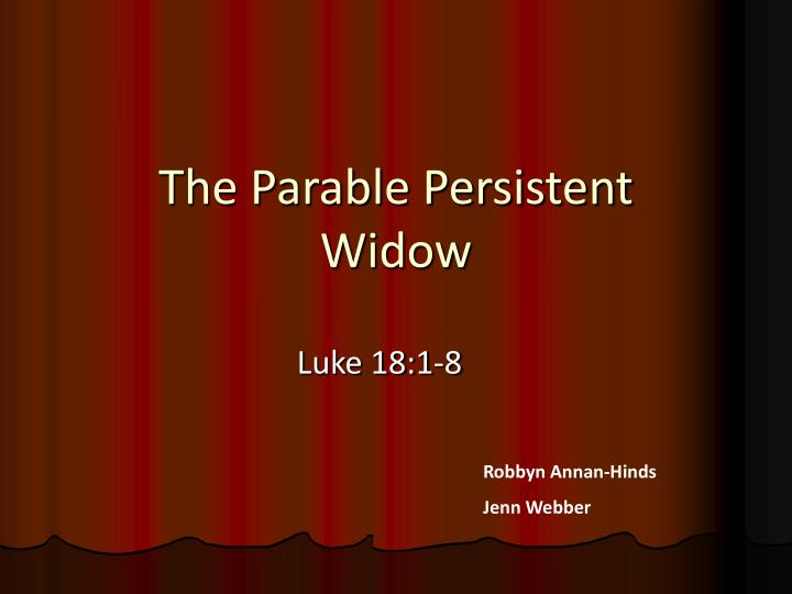 The parable persistent widow