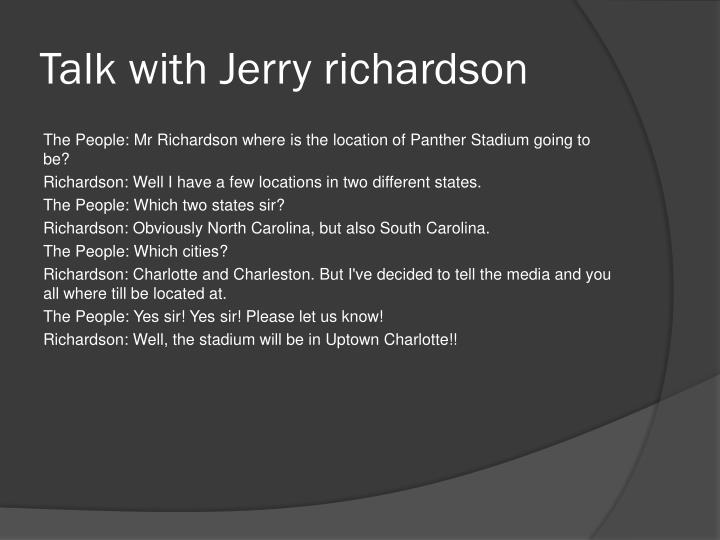 Talk with Jerry