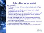 agile how we got started