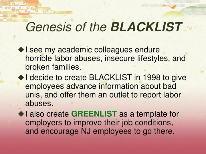 Genesis of the