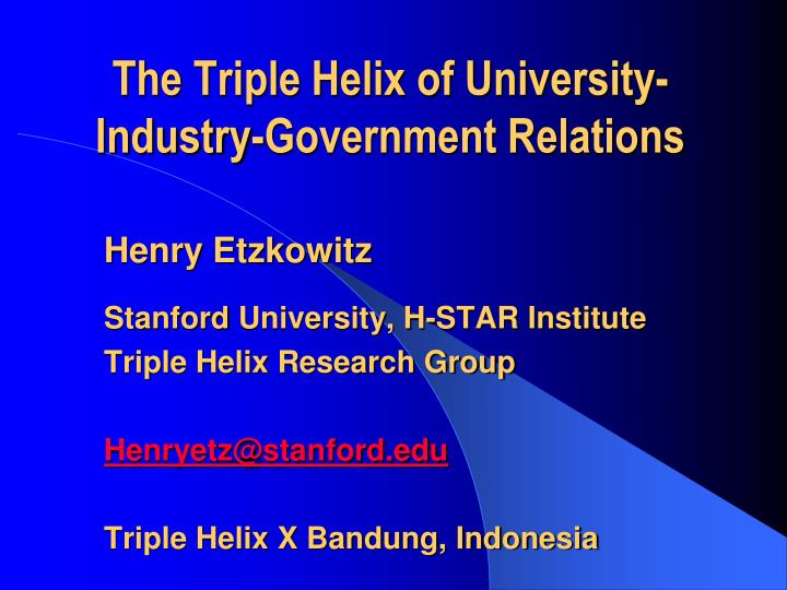 innovation in innovation the triple helix of university industry government relations n.