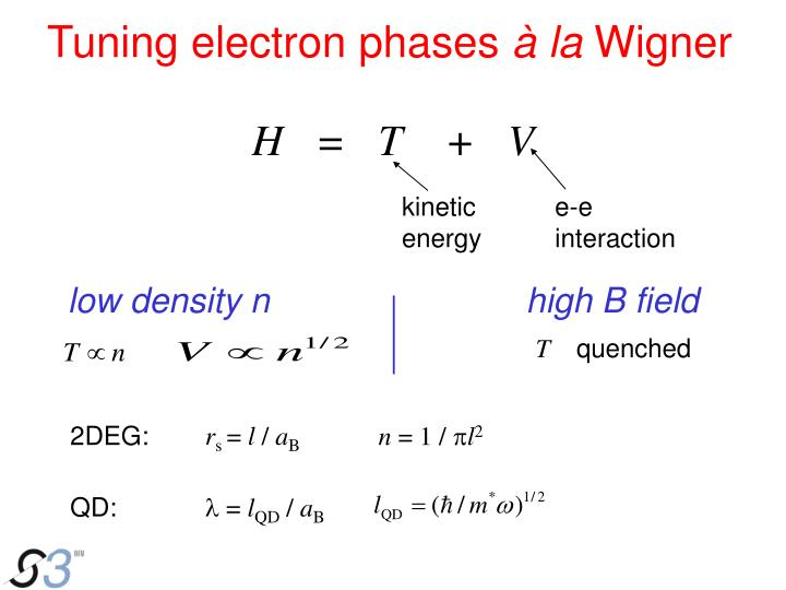 Tuning electron phases