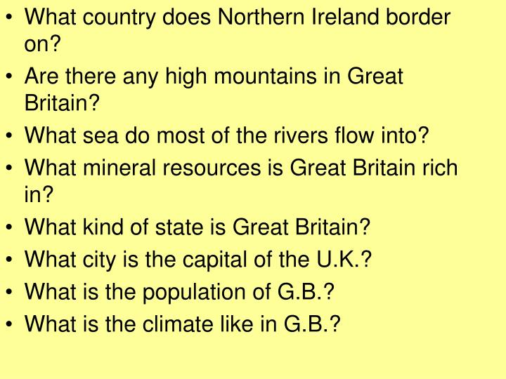 What country does Northern Ireland border on?