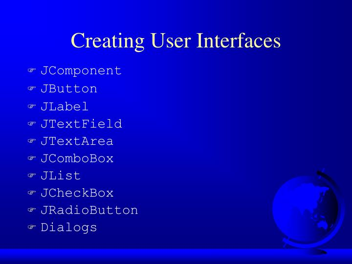 Creating user interfaces