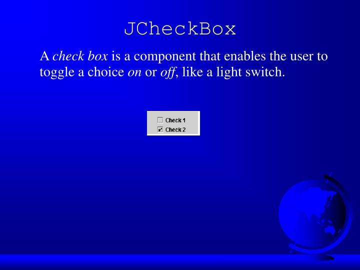JCheckBox