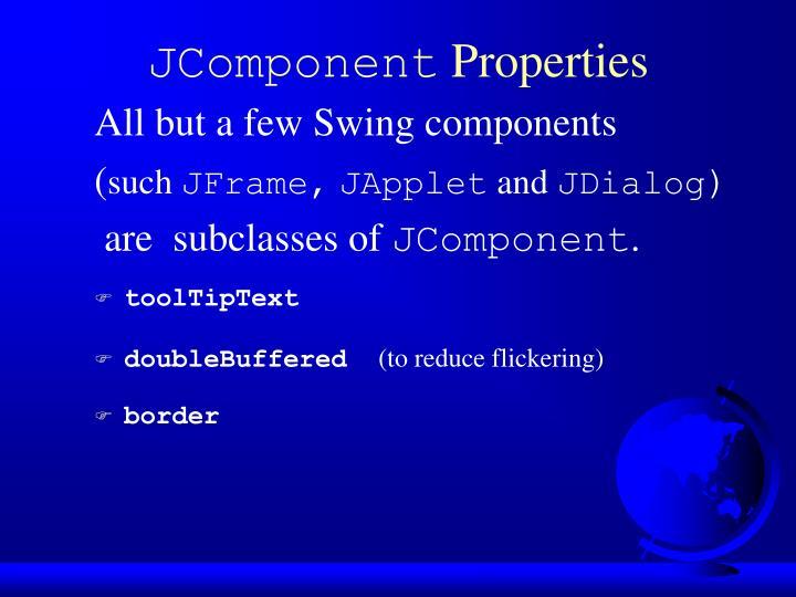 Jcomponent properties