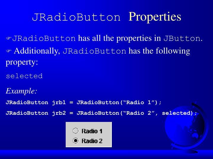 JRadioButton