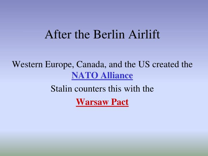 After the Berlin Airlift