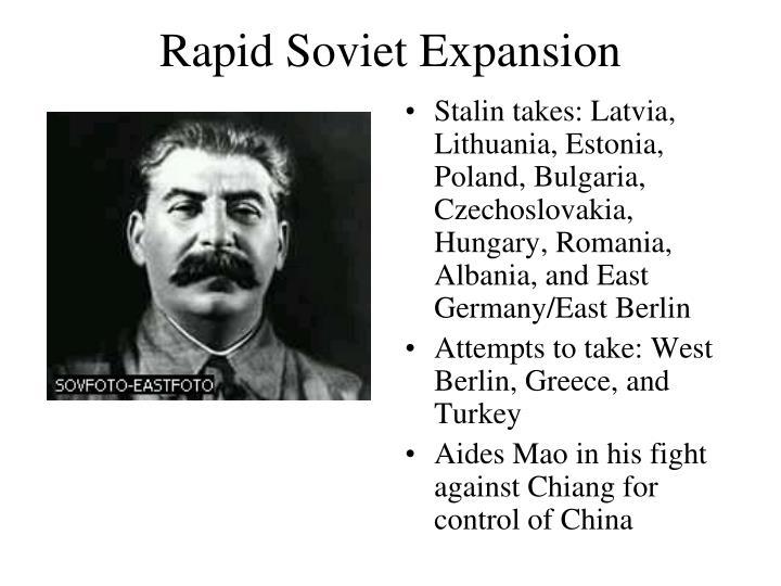 Rapid Soviet Expansion