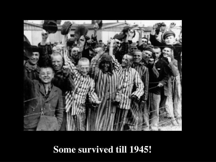 Some survived till 1945!