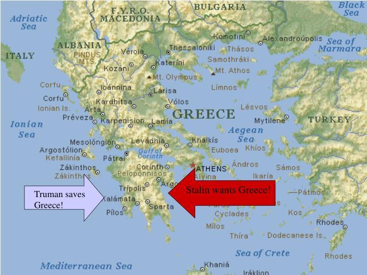 Stalin wants Greece!