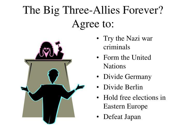 The big three allies forever agree to