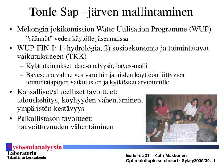 Tonle Sap –järven mallintaminen