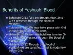 benefits of yeshuah blood1
