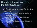 how does it look forward to the new covenant