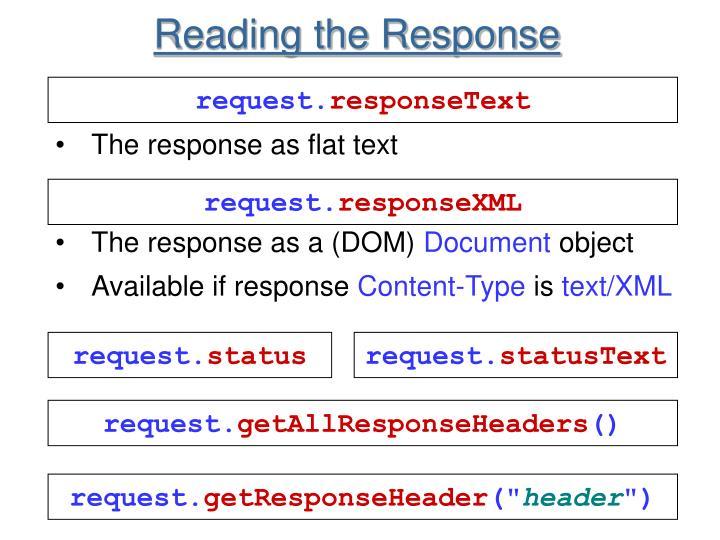 Reading the Response