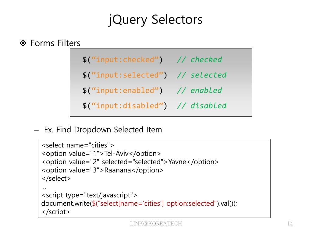PPT - JQuery PowerPoint Presentation - ID:5111722