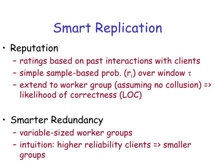 Smart Replication