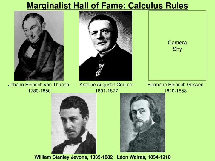 marginalist hall of fame calculus rules n.