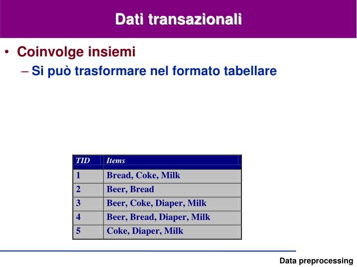 Dati transazionali